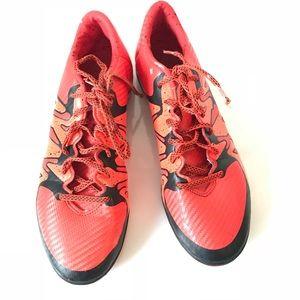 ADIDAS orange black indoor soccer shoes size 13